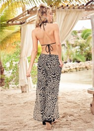 Back View Wild Palazzo Cover-Up Pant
