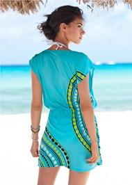 Back View Blousant Cover-Up Dress