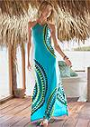 Front View Strappy Maxi Dress