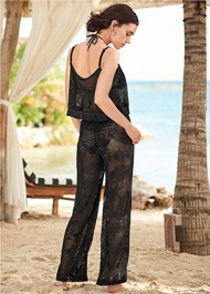 Back View Lace Detail Cover-Up Pant
