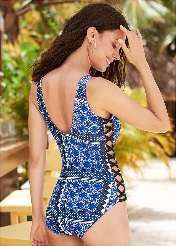 Back View Poolside One-Piece