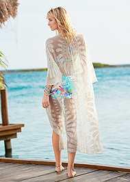 Back View Lace Kimono Cover-Up