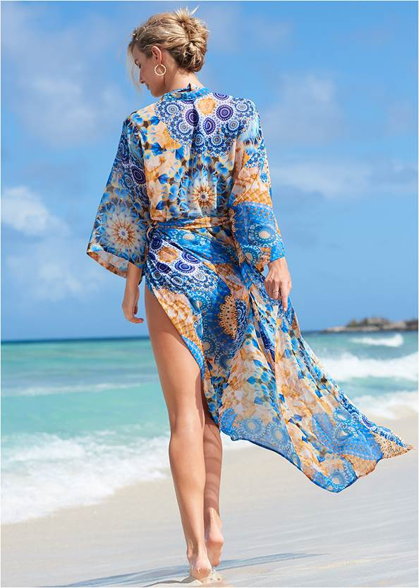 Back View Sheer Caftan Cover-Up
