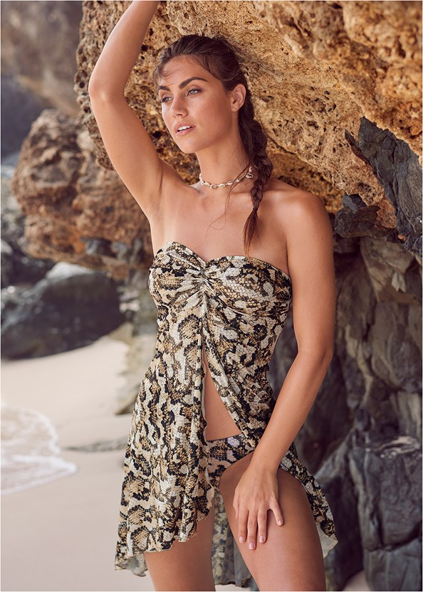 Convertible Dress/Skirt,Triangle String Bikini Top,Scoop Front Classic Bikini Bottom ,String Side Bikini Bottom,Sequin And Straw Tote