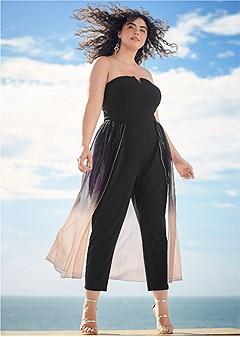 plus size ombre jumpsuit