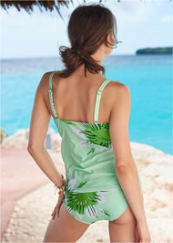 Back View Printed Tankini