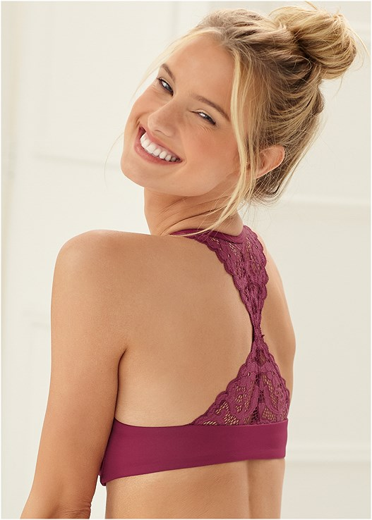 EVERYDAY YOU RACERBACK BRA,LACE TOP BRIEF 5 FOR $29