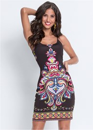 Cropped front view Printed Tank Dress