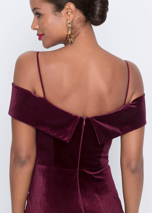 Alternate View Velvet Long Dress
