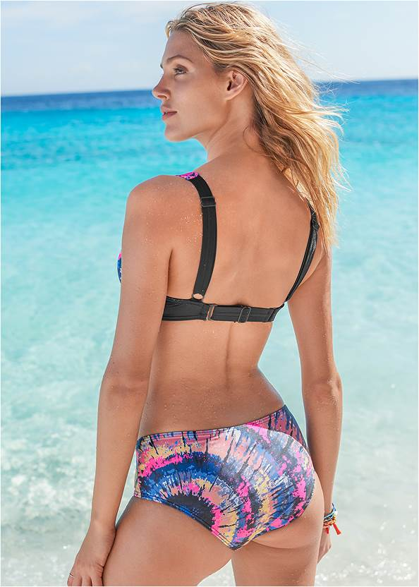 Back View Underwire Retro Bikini Top