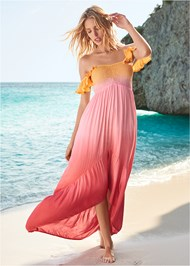 Front View High Low Maxi Cover-Up