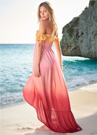 Back View High Low Maxi Cover-Up