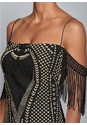 Alternate View Sequin Fringe Bodycon Dress