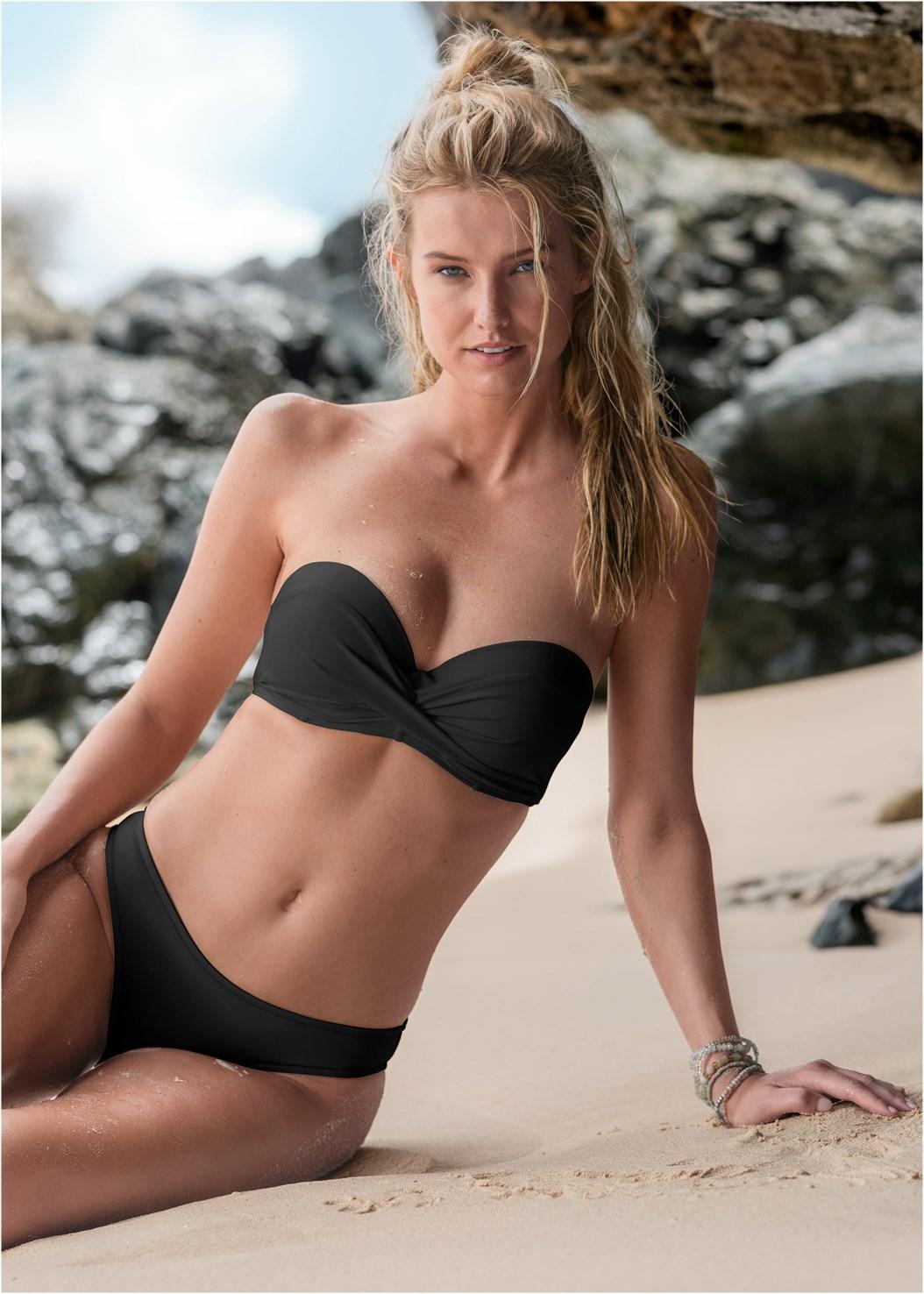 Summer Breeze Bandeau Top,Scoop Front Classic Bikini Bottom