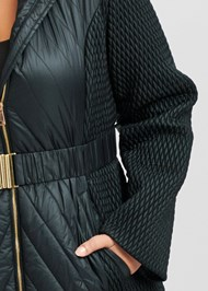 Alternate View Long Puffer Coat