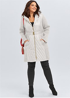 plus size long puffer coat