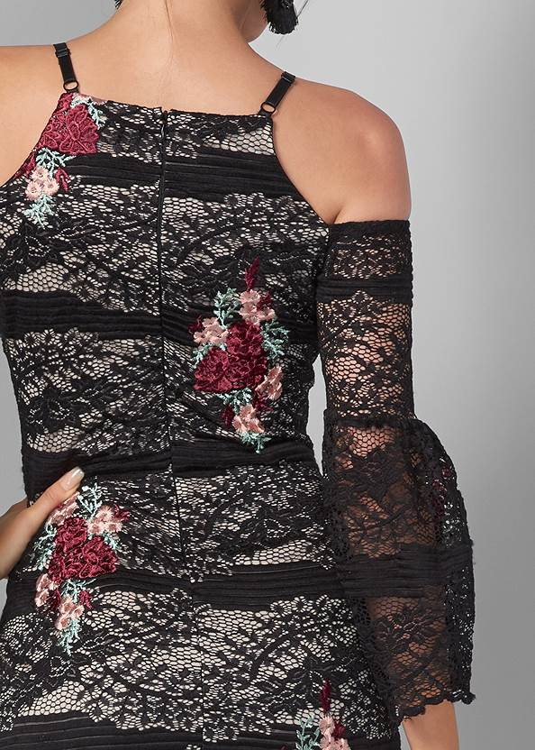 Alternate View Lace With Appliques Dress