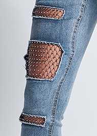 Alternate View Fishnet Inset Jeans