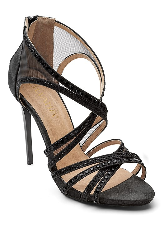 EMBELLISHED STRAPPY SANDAL,SEQUIN DETAIL TWO PIECE SET,HIGH HEEL STRAPPY SANDALS