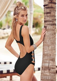 Back View Peek-A-Boo One-Piece