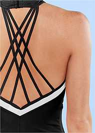 Alternate View Strappy Back One-Piece