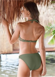 Back View Strappy Enhancer Halter Top