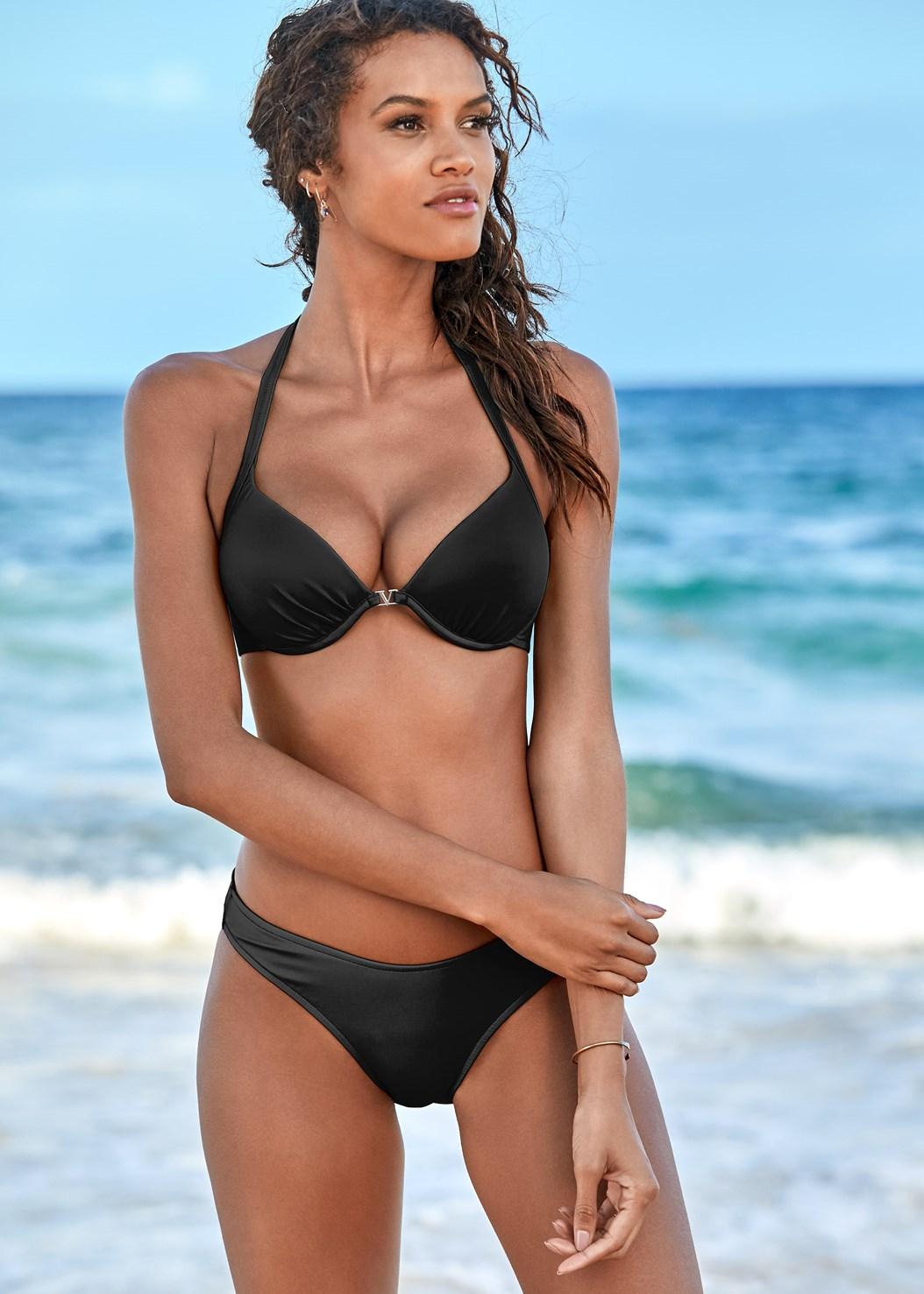 Venus Enhancer Halter Top,Scoop Front Classic Bikini Bottom ,Low Rise Classic Bikini Bottom ,Wrapped Mid Rise Bottom
