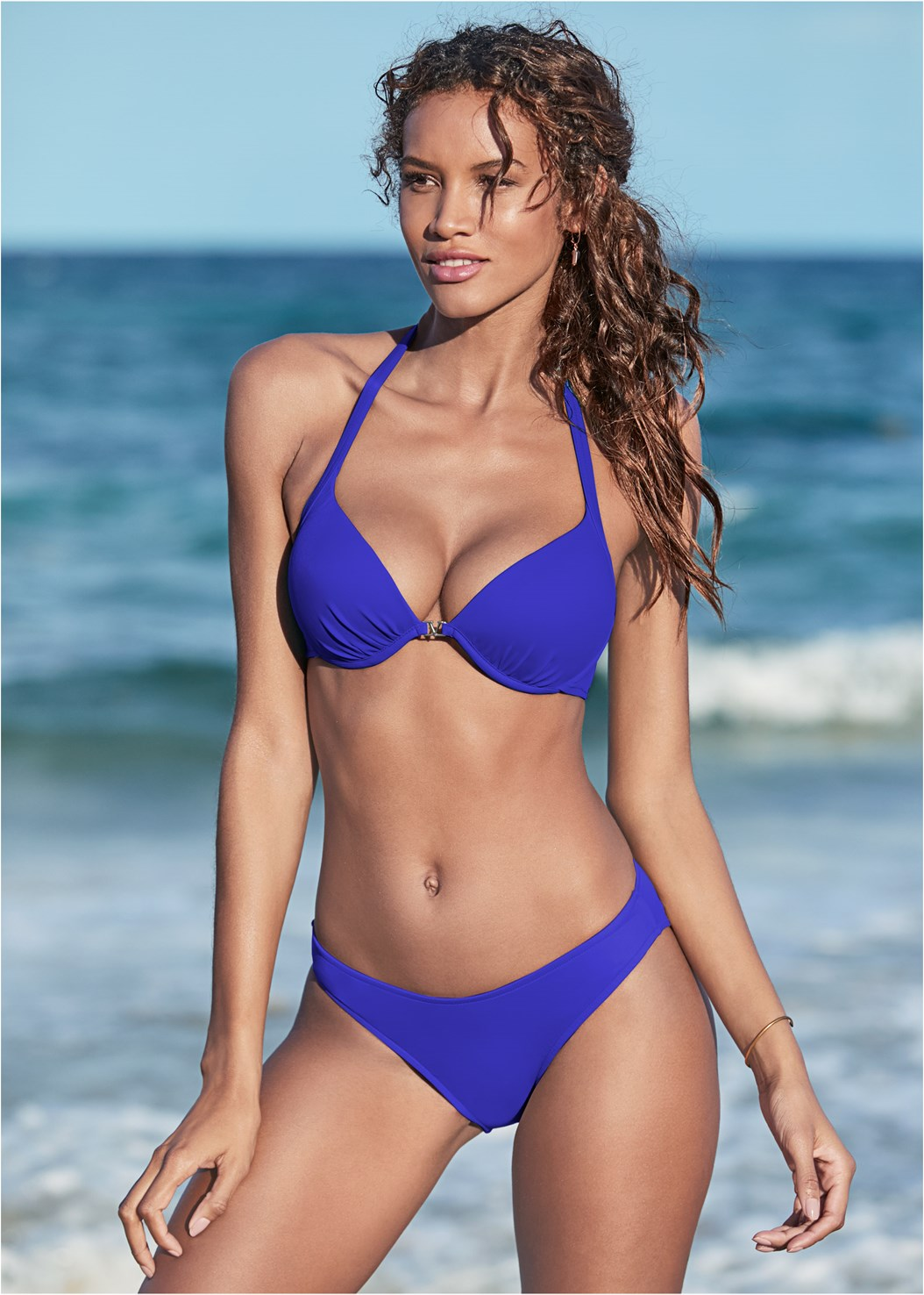 Venus Enhancer Halter Top,Scoop Front Classic Bikini Bottom ,Low Rise Classic Bikini Bottom ,Mid Rise Strappy Bottom