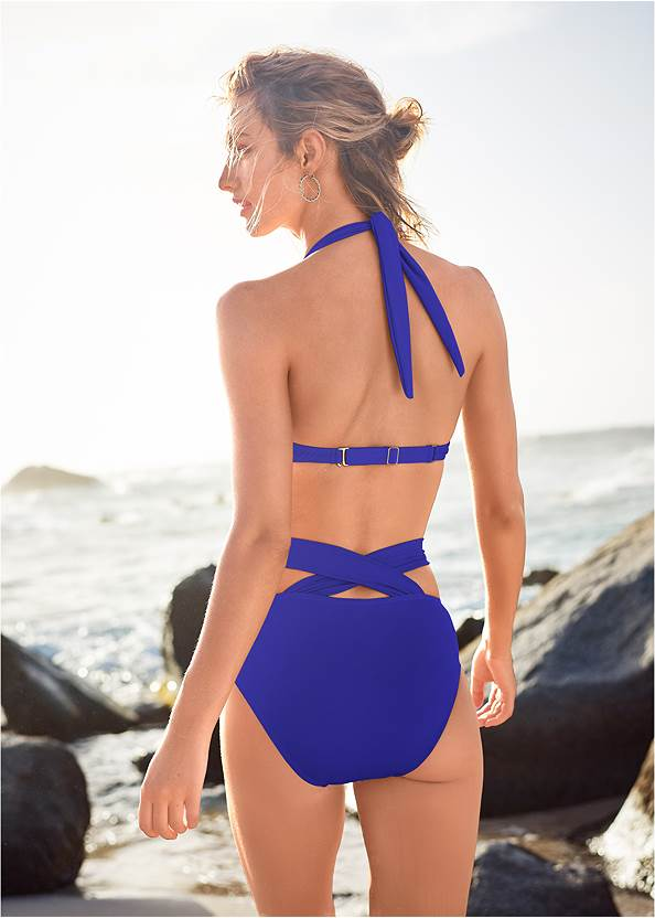 Back View Marilyn Underwire Push Up Halter Top