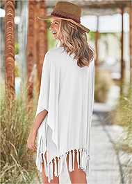 Back View Fringe Detail Cover-Up