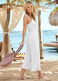 Back View Tie Front Jumper Cover-Up