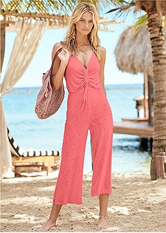 tie front jumper cover-up