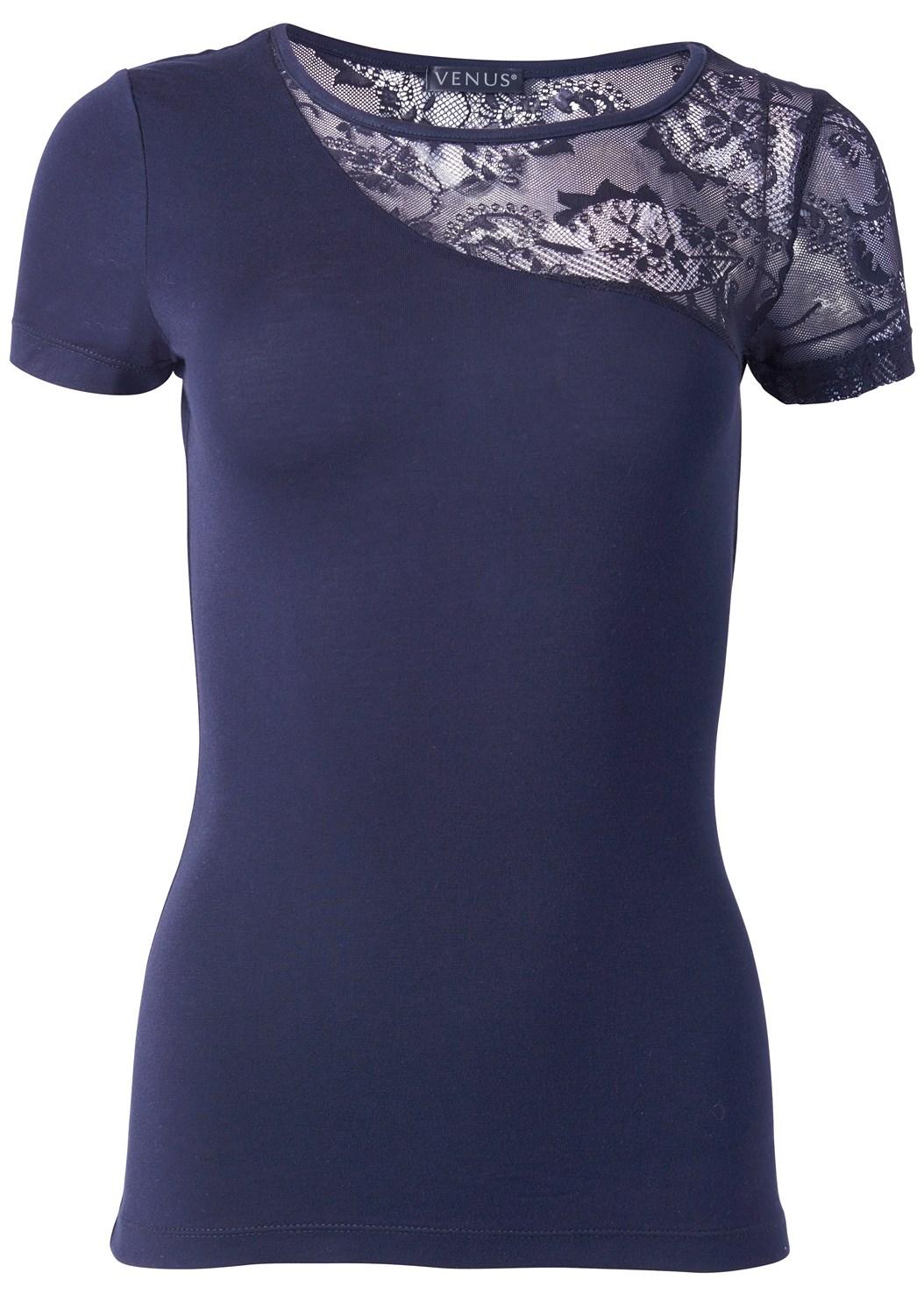 Lace Detail Top,Color Capri Jeans
