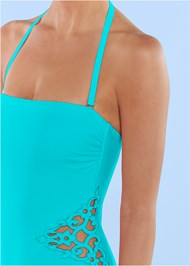 Alternate View Applique Bandeau One-Piece