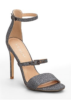 buckle detail strappy heels