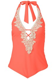 Alternate View Beaded Crochet Tankini Top