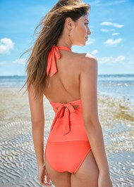Back View Beaded Crochet Tankini Top