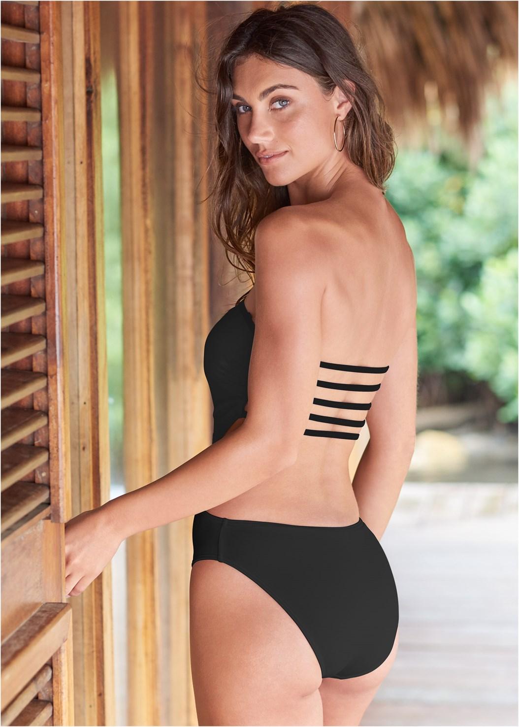 Capri Strap Back Monokini,Strapless Jumpsuit,Flirty Romper Cover-Up,Keyhole Back Cover-Up