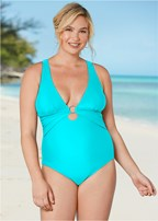 plus size crisscross one-piece