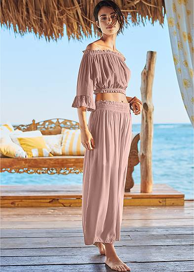Off-The-Shoulder Cover-Up Top