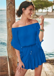 Front View Flirty Romper Cover-Up