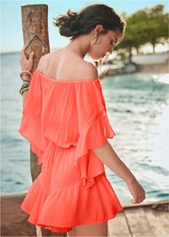 Back View Flirty Romper Cover-Up