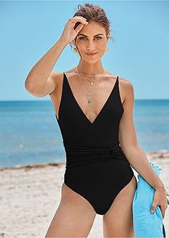 v neck ring one-piece