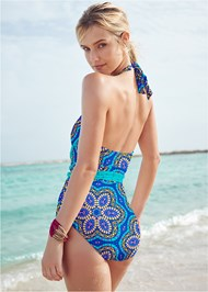 Back View Jamaica Tie One-Piece