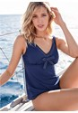 Front View Bow Front Tankini Set
