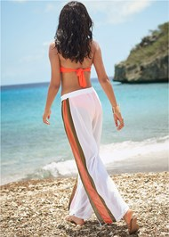 Back View Side Stripe Cover-Up Pants