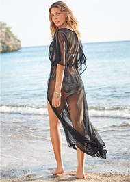 Back View Sheer Cover-Up Dress