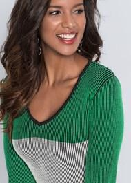 Detail  view Color Block Sweater Dress