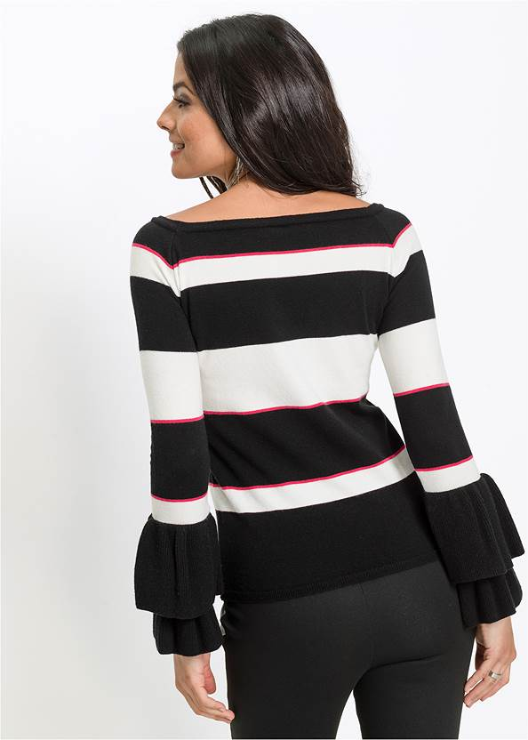 Cropped back view Striped Sweater