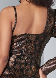 Alternate View Python Print Sequin Dress